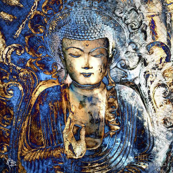 Buddha Print featuring the digital art Inner Guidance by Christopher Beikmann