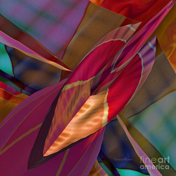 Abstract Print featuring the digital art Into The Soul by Deborah Benoit