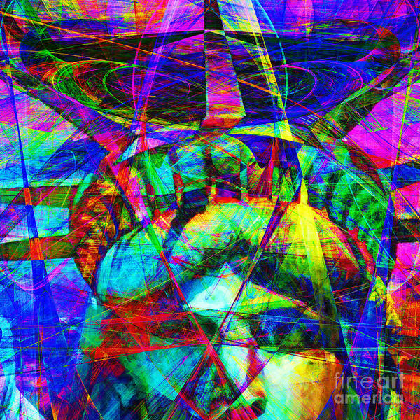 Patriotic Print featuring the photograph Liberty Head Abstract 20130618 Square by Wingsdomain Art and Photography