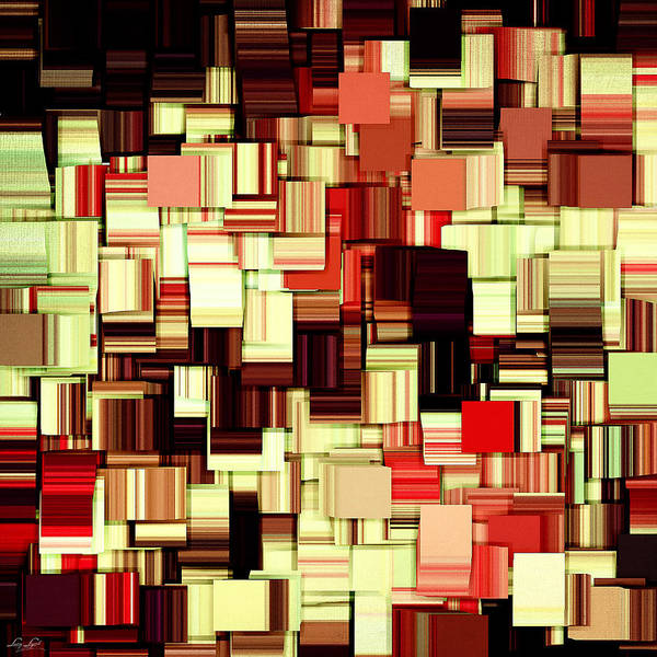 Abstract Print featuring the digital art Modern Abstract Art Xvii by Lourry Legarde
