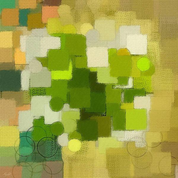 Light Green Print featuring the digital art Modern Abstract Xxxv by Lourry Legarde