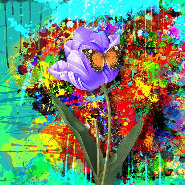 Gary Grayson Print featuring the digital art Nature Vs Caos by Gary Grayson