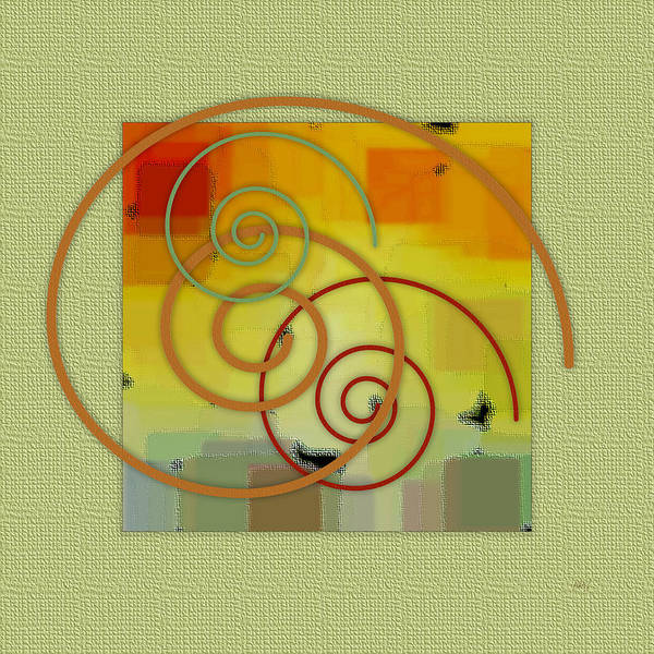 Abstract Print featuring the digital art Patchwork II by Ben and Raisa Gertsberg