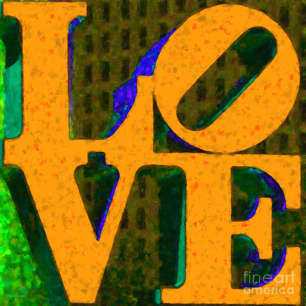 Love Print featuring the photograph Philadelphia Love - Painterly V4 by Wingsdomain Art and Photography