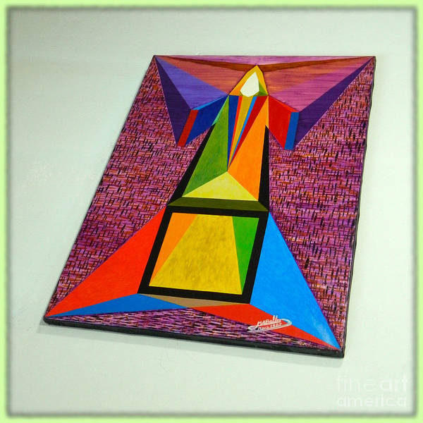 Spirituality Print featuring the painting Shot Shift - Liberte 2 by Michael Bellon
