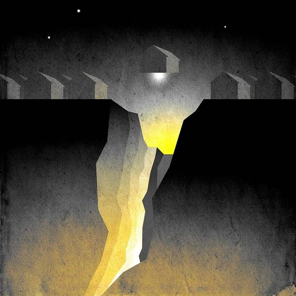 Abstract Expressionism Print featuring the digital art Suburban Fracture by Milton Thompson