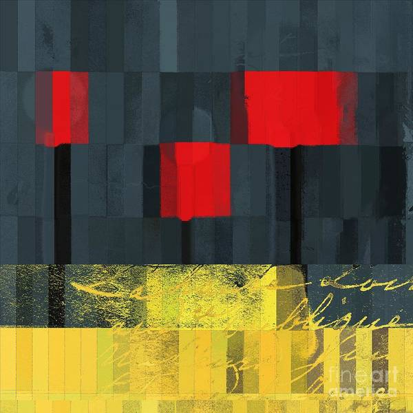 Ed Trees Print featuring the digital art The Three Trees - J021580118 by Variance Collections