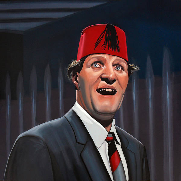Tommy Cooper Print featuring the painting Tommy Cooper by Paul Meijering