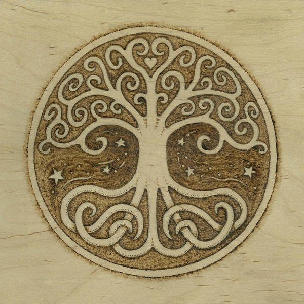 Tree Print featuring the pyrography Tree Of Life by Jason Gianfriddo