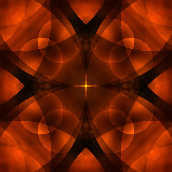 Abstract Print featuring the photograph Worlds Collide 16 by Mike McGlothlen