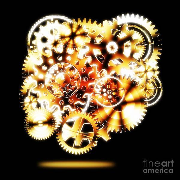 Art Print featuring the photograph Gears Wheels Design by Setsiri Silapasuwanchai