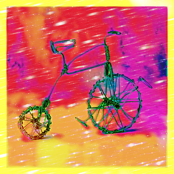 Art Print featuring the pyrography Bike 1a by Mauro Celotti
