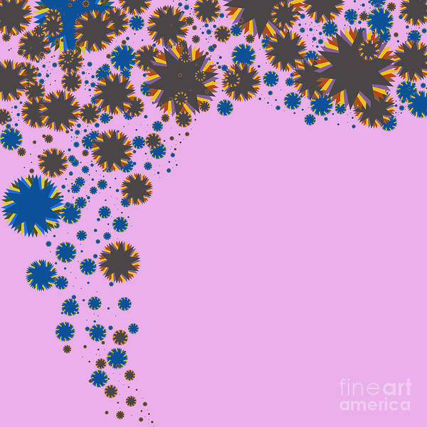 Allure Print featuring the digital art Blades On Purple by Atiketta Sangasaeng