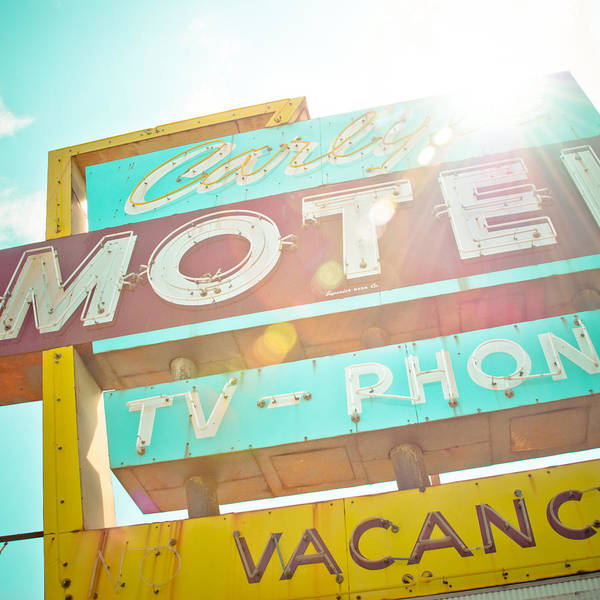 Route 66 Print featuring the photograph Carlyle Motel by David Waldo