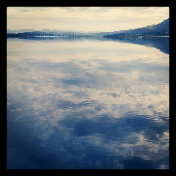 Square Print featuring the photograph Clouds Reflected On River by Jodie Griggs