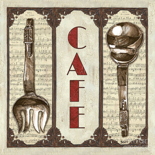 Cafe Print featuring the painting Elegant Bistro 2 by Debbie DeWitt