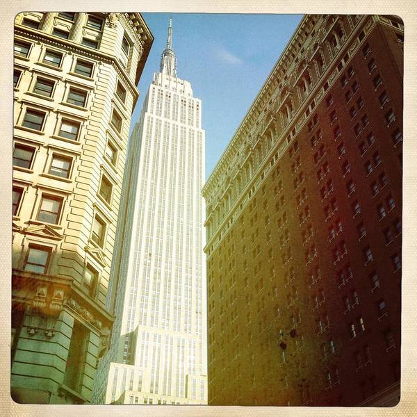 Square Print featuring the photograph Empire State Building by Ben Peterson