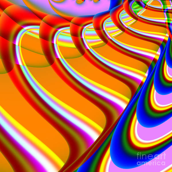 Fractal Print featuring the digital art Finding Love . S15 by Wingsdomain Art and Photography