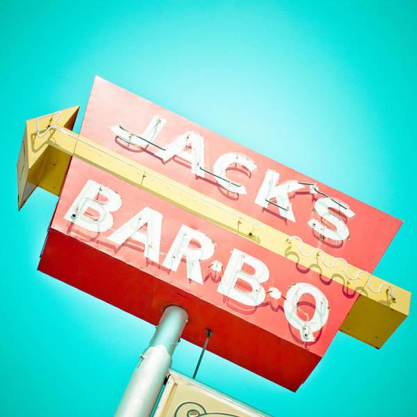 Oklahoma Print featuring the photograph Jack's Bar-b-q by David Waldo