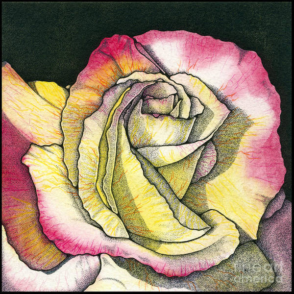 Rose Print featuring the painting Memories by Nora Blansett