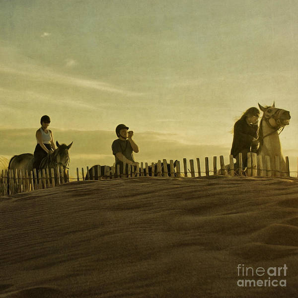 Midsummer Evening Horse Ride Print featuring the photograph Midsummer Evening Horse Ride by Paul Grand