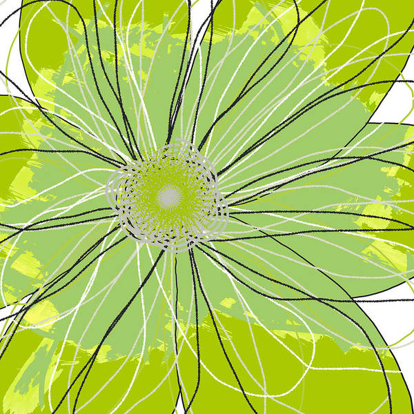 Canvas Art Print featuring the mixed media Moda Flower Mix I by Ricki Mountain
