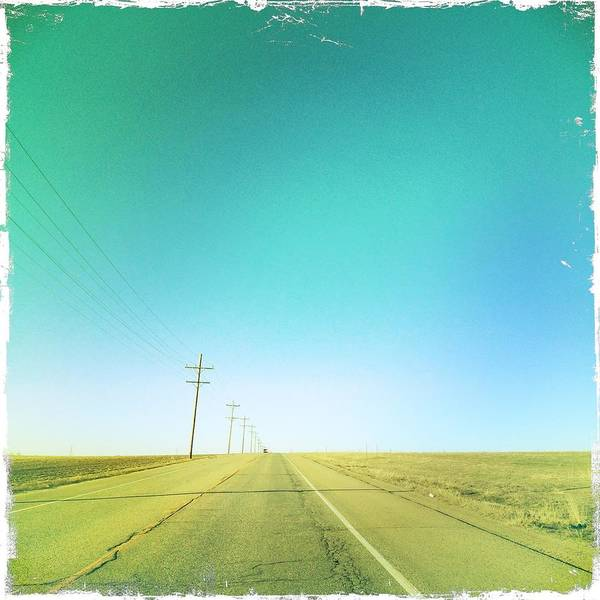 Square Print featuring the photograph Open Road by A L Christensen