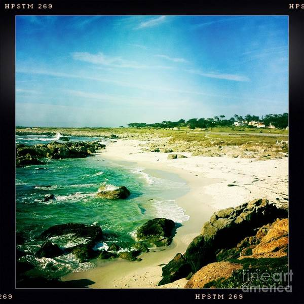 Pebble Beach Print featuring the photograph Pebble Beach by Nina Prommer