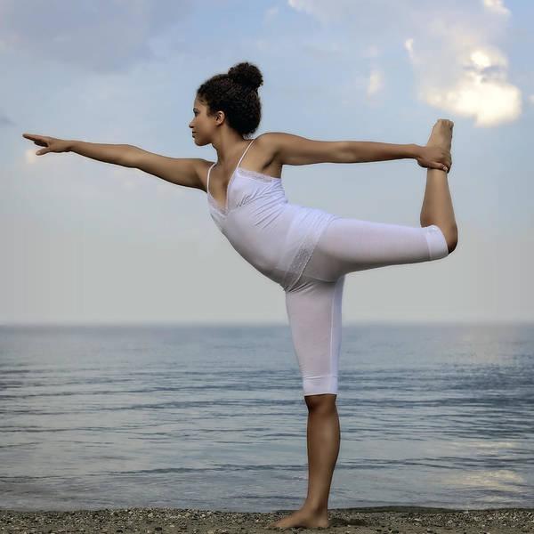 Female Print featuring the photograph Yoga by Joana Kruse