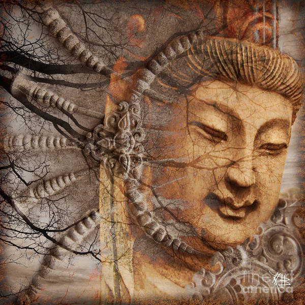 Guan Yin Print featuring the digital art A Cry Is Heard by Christopher Beikmann