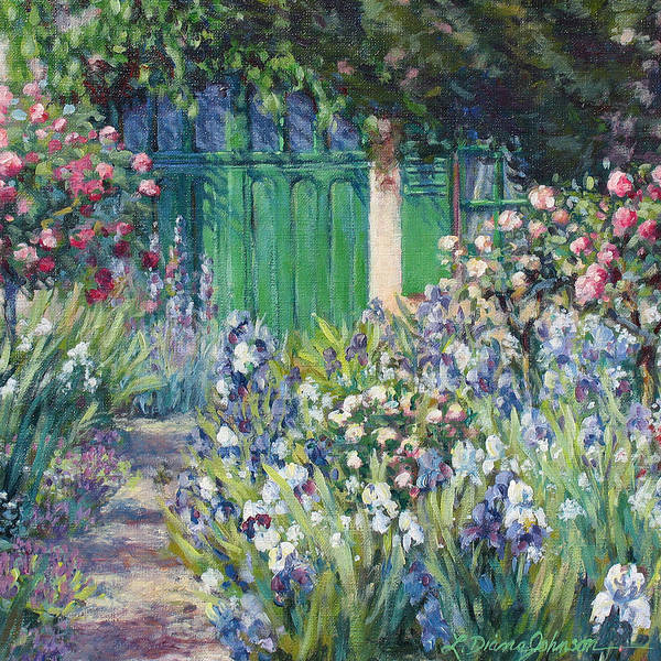 Monet Print featuring the painting Charmed Entry - Monet by L Diane Johnson