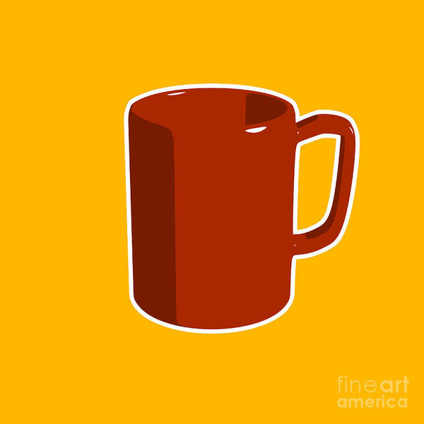 Retro Print featuring the digital art Cup Of Coffee Graphic Image by Pixel Chimp