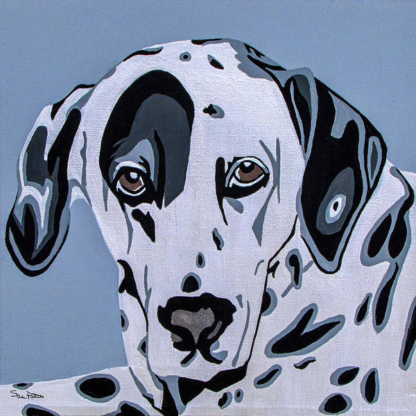 Dalmatian Print featuring the painting Dalmatian by Slade Roberts