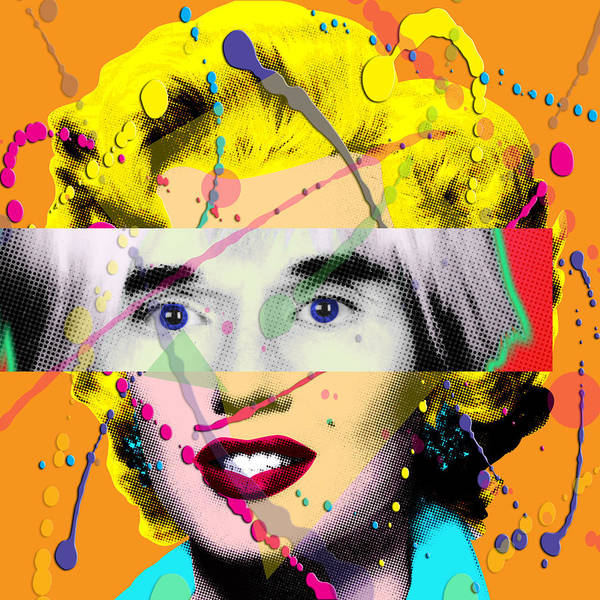 Pop Art Print featuring the painting Homage To Warhol by Gary Grayson