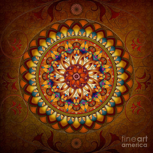 Ararat Print featuring the digital art Mandala Ararat by Bedros Awak