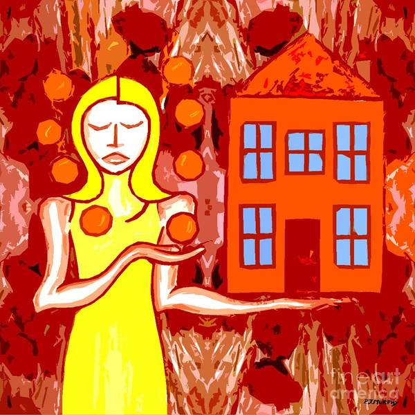 Woman Print featuring the painting Modern Woman by Patrick J Murphy