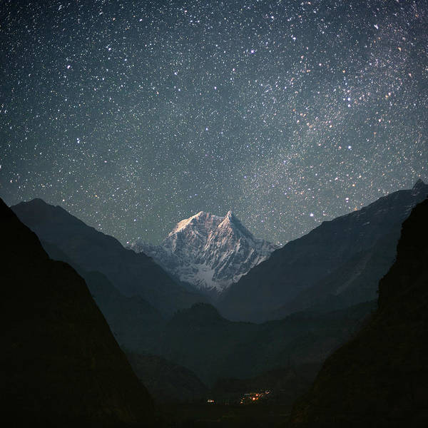Square Print featuring the photograph Nilgiri South (6839 M) by Anton Jankovoy
