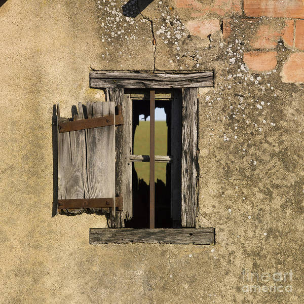 Window Print featuring the photograph Old Shack by Bernard Jaubert