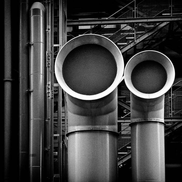 Industry Print featuring the photograph Pipes by Dave Bowman