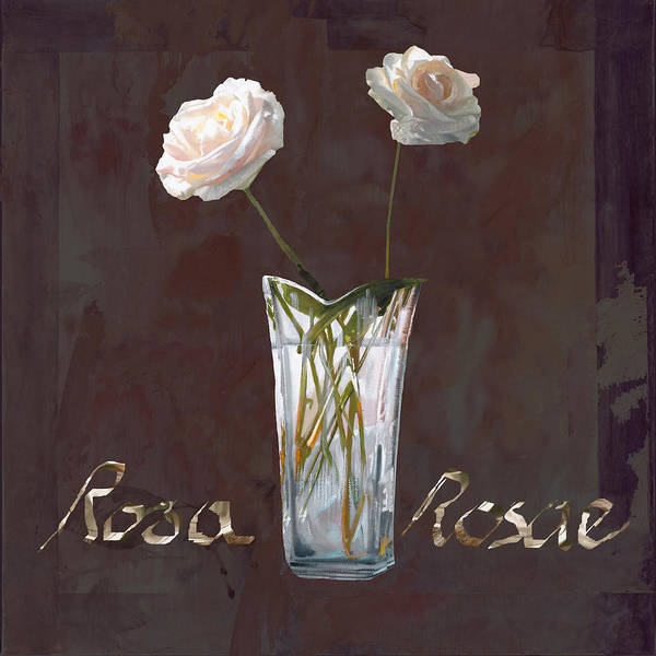 Rasa Print featuring the painting Rosa Rosae by Guido Borelli