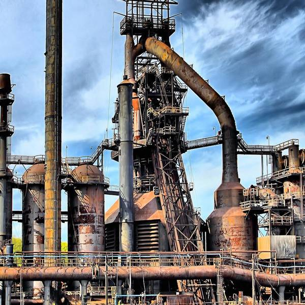 Bethlehem Print featuring the photograph Steel Stacks Bethlehem Pa. by DJ Florek
