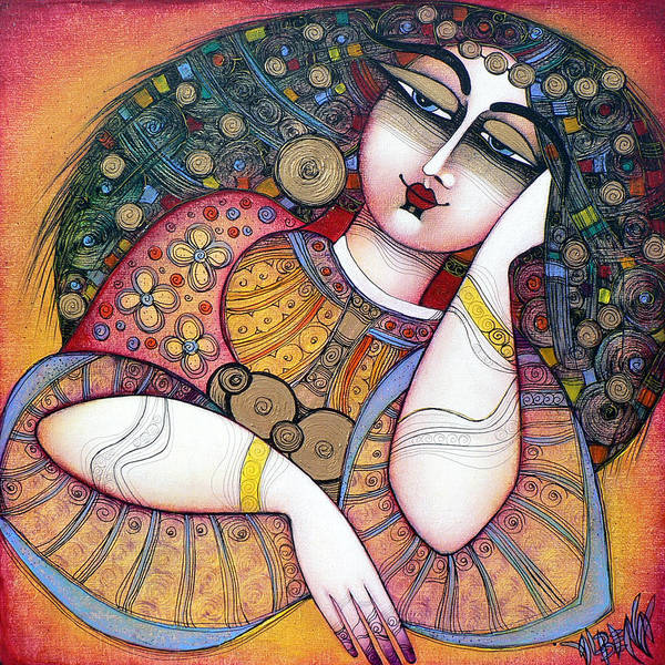 Art Print featuring the painting The Beauty by Albena Vatcheva