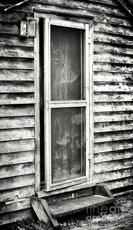 Enter Through The Back Door Print featuring the photograph Enter Through The Back Door by John Rizzuto