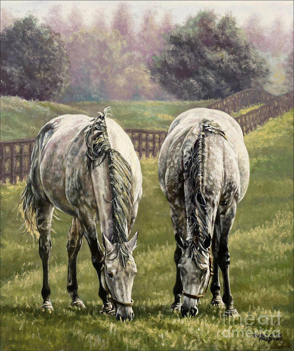 Derby Print featuring the painting Grazing by Thomas Allen Pauly