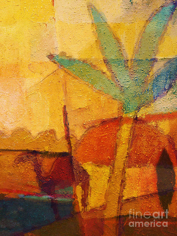 Impressionism Print featuring the painting Hot Sun by Lutz Baar