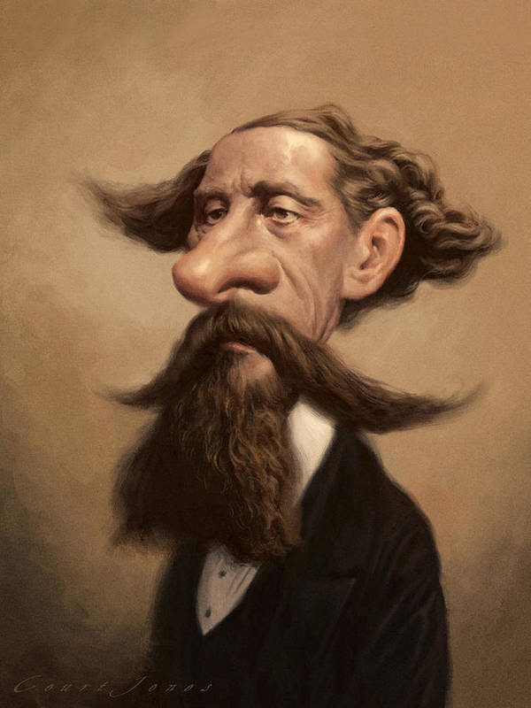 Charles Dickens Print featuring the painting Charles Dickens by Court Jones