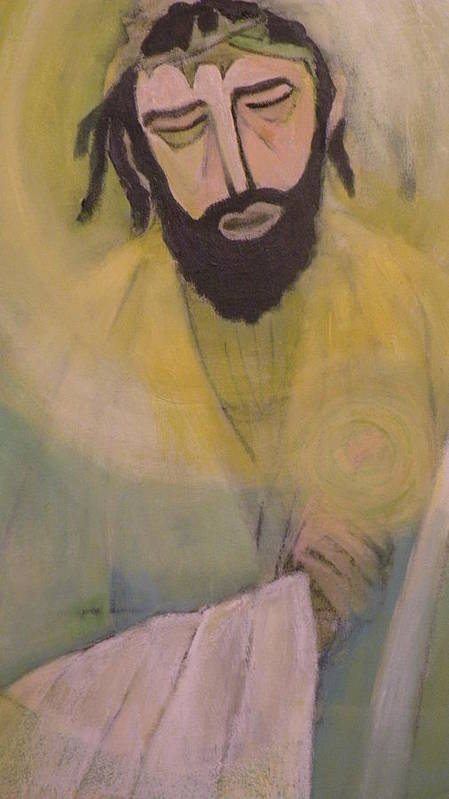 Portrait Print featuring the painting Mesiah by Robert Daniels