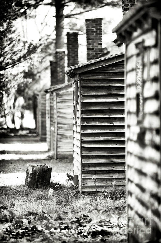 Vintage Cabins Print featuring the photograph Vintage Cabins by John Rizzuto