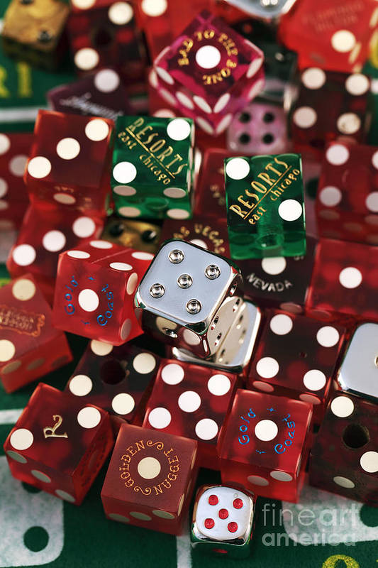 Lots Of Dice Print featuring the photograph Dice by John Rizzuto