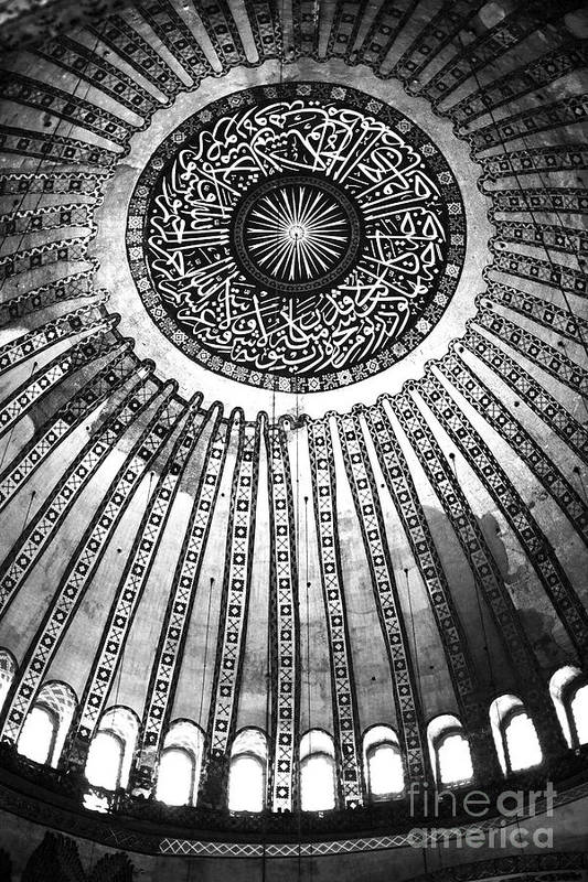 Historic Sophia Ceiling Print featuring the photograph Historic Sophia Ceiling by John Rizzuto